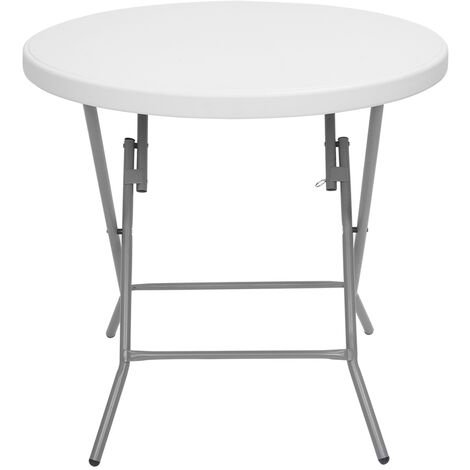 32inch Round Folding Table Outdoor Folding Utility Table White
