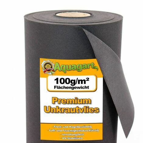 32m² Gartenvlies Unkrautvlies Mulchvlies 100g 1,6m br.