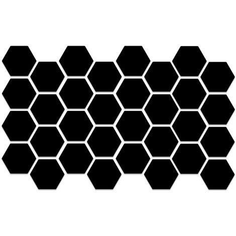 32PCS Pegatinas de pared de espejo hexagonal, Calcomanias de pared removibles,Oro