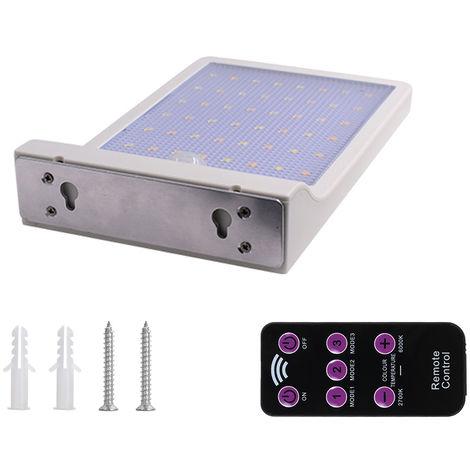 3.2V 3.5W 48 LED 450LM Solar Powered Energy PIR Motion Sensor Wall Lamp White , type 1