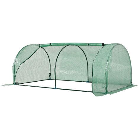 3.2x6.5ft Mini Oblong Outdoor Greenhouse Floor Grow Unit Plants Vegetables Flowers