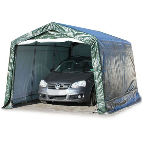 3,3 x 4,8 m Portable Garage Storage Shed Shelter Tent Carport Car Canopy 240 g/m³ PE in darkgreen