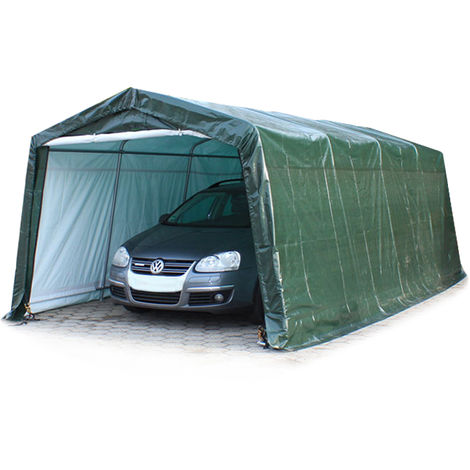 3,3 x 6,2 m Portable Garage Storage Shed Shelter Tent Carport Car Canopy 240 g/m³ PE in darkgreen