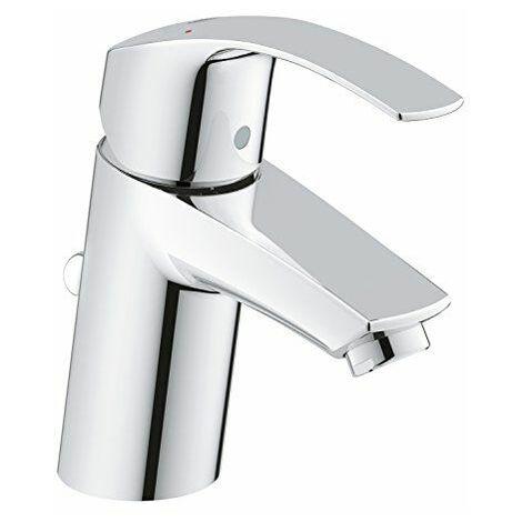 3326520L GROHE Eurosmart Robinet mitigeur pour lavabo avec bonde de vidage Pop-Up Lot de pression universelle (convient pour les Installations haute ou basse pression)