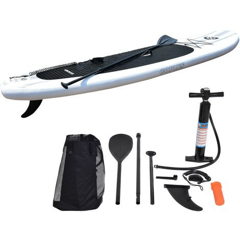 335CM/11FT Inflatable Stand Up Surfing Board Soft Surf Paddle Board W/ Package