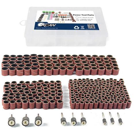 338 Pcs Poncage Drum Kit Forets A Ongles Poli Dremel Accessoires D'Outil Rotatif