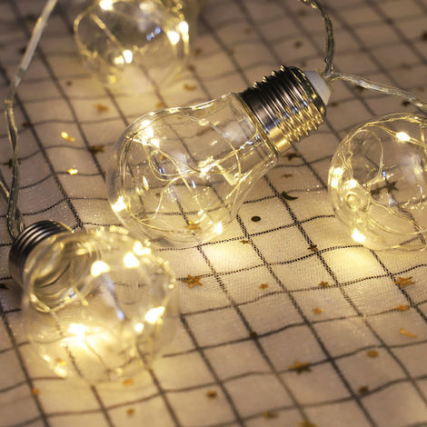 3.3ft LED String Lights with 10 Bulbs Warm White Waterproof Shatterproof Fairy String Lights
