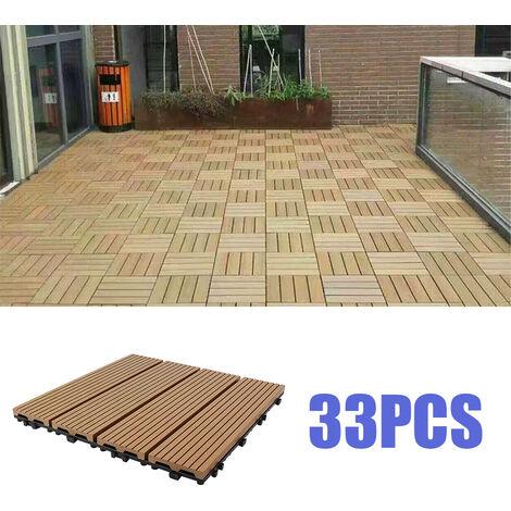 33x Dalles de terrasse pour 3m² terrasse - 30x30cm