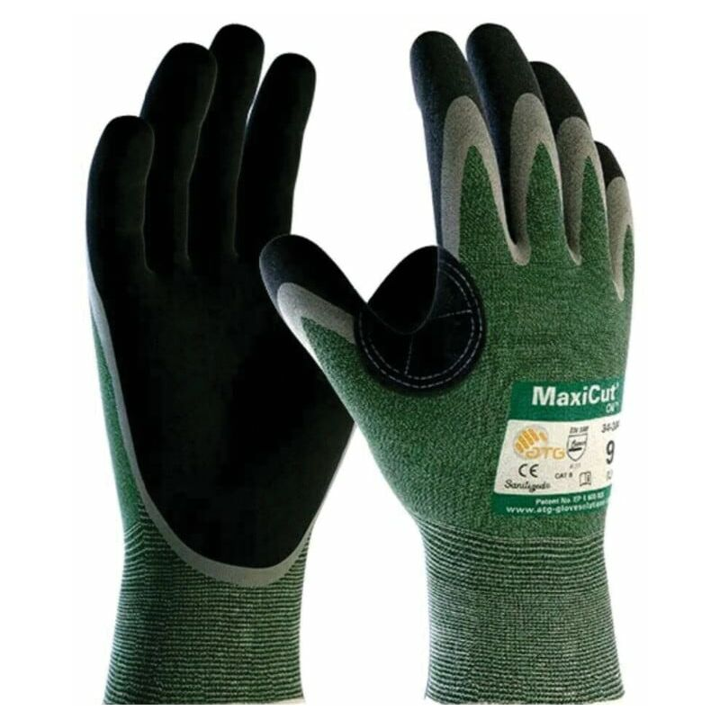 Image of Atg 34-304-B MaxiCut Oil Grip Palm Coated Cut 3 SZ.8