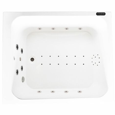 34 Jet Japanese Deep Airspa Whirlpool Bath LED Lighting & Ozonator 1100 x 1100mm