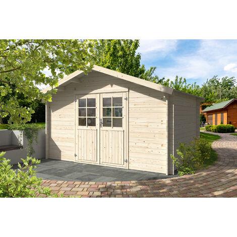 34 mm Gartenhaus Greta - ca. 400x300 cm - Gerätehaus Holzhaus Blockhaus