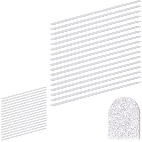 34 x Anti Rutsch Streifen, 60 cm lang, Kunststoff, für Dusche & Treppe, selbstklebend, Anti-Rutsch-Sticker, transparent