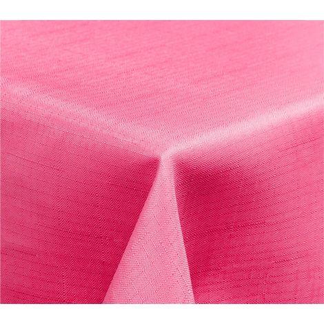 344927 Mantel rectangular efecto lino WELKHOME 150x240 cm acabado en ondas
