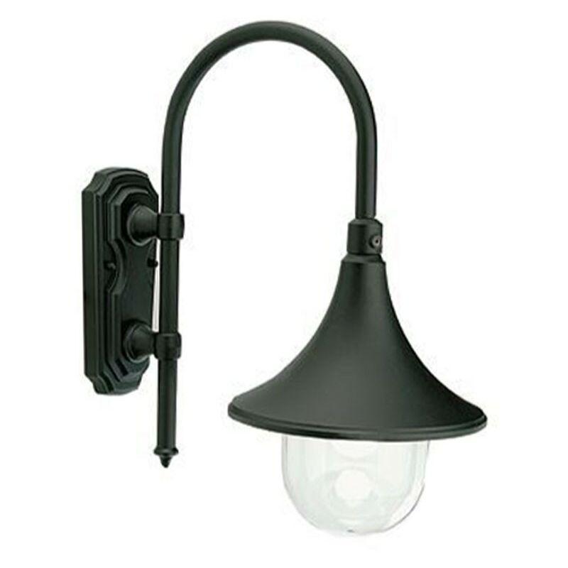 Applique Lampara colore nero attacco 1XE27 IP43 347/06 - Sovil