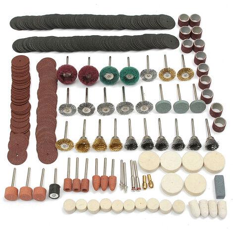 347 piezas de pulido, lijado, pulido, herramienta rotativa, juego de accesorios de rueda
