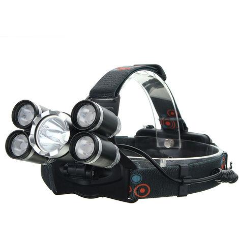 35000Lm T6 Head Lamp ontale Antorcha recargable (batería sin)