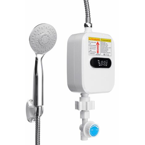 3500W chauffe-eau électrique domestique étanche Machine de chauffage instantané de l\'eau sans réservoir salle de bain douche chauffe-eau