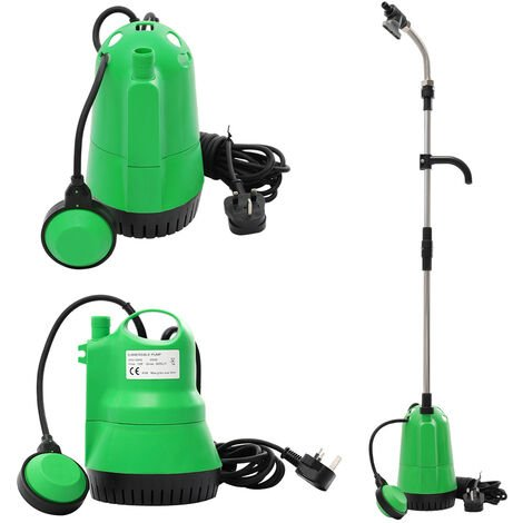 350W Submersible Dirty Clean Water Pump Swimming Pool Flood Pond