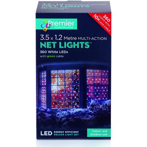 350x120cm 360 Multi Action LED Net Light - White