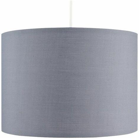 35cm Fabric Easy Fit Ceiling Pendant Table Lampshade - Dark Grey - Grey