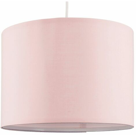35cm Fabric Easy Fit Ceiling Pendant Table Lampshade - Pink