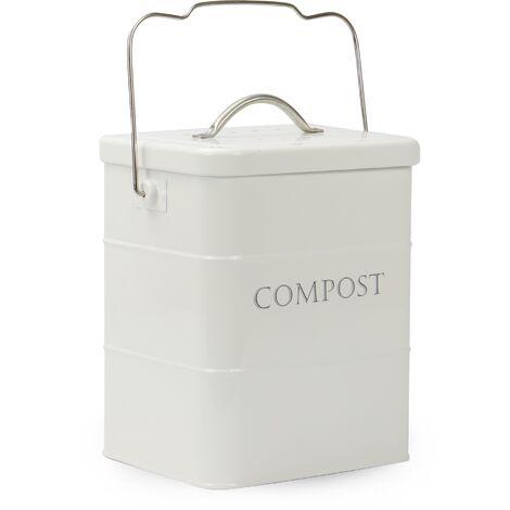 3.5L Kitchen Compost Waste Bin   M&W