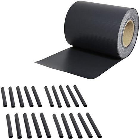 35M PVC para cercas lámina de protección de la intimidad alfombras de doble varilla antracita rollo opaco cerca