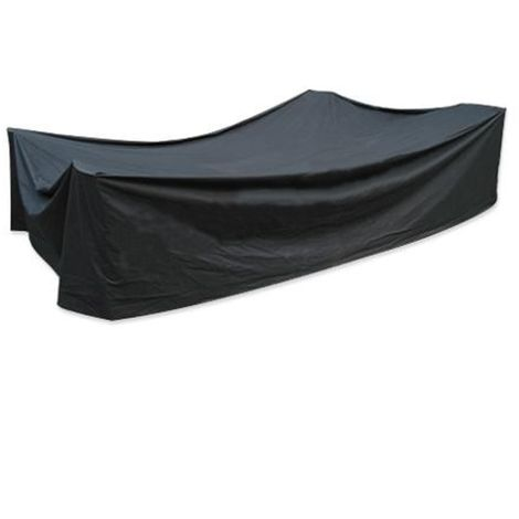 3.5m Rectangular Black 10 Seater Furniture Cover Waterproof Outdoor Garden Patio