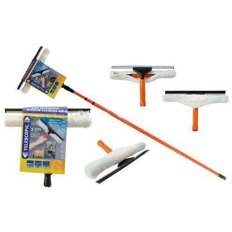 """main image of """"3.5M TELESCOPIC CONSERVATORY WINDOW GLASS CLEANING CLEANER KIT WITH SQUEEGEE NEW"""""""