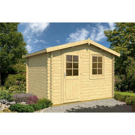 3.5m x 2.5m Budget Apex Log Cabin (207) - Single Glazing (28mm Wall Thickness)