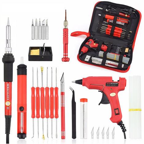 35PCS Fer à souder électrique à température réglable de pyrogravure de stylo à bois