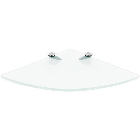 35x35CM Estante esquinero de pared + soporte estante de cristal transparenteest consola de cristal