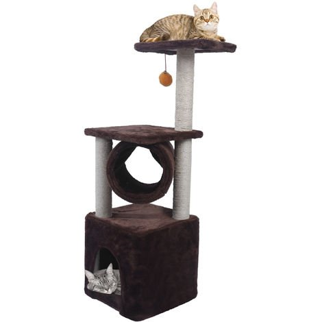 "36"" Cat Tree Tower Condo Furniture Play Toy Scratch Post Kitten Pet House"