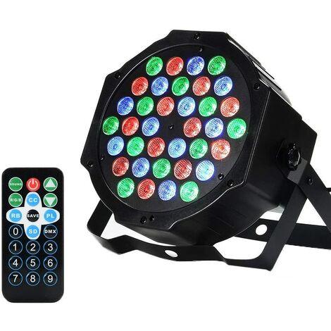 36 focos LED, focos PAR, luz de discoteca, luz estroboscópica de DJ, iluminación de escenario, lámpara, mezclador RBG, 36W, entrada / salida DMX