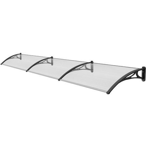 3.6 m Door Canopy Awning Shelter Patio Cover Extendable Canopies Black CP0002-3