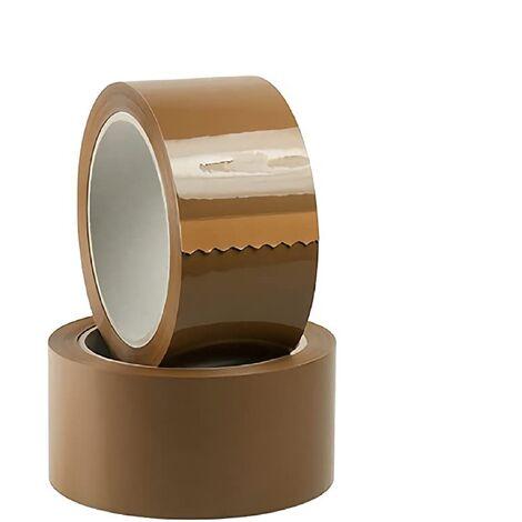 36 pezzi Nastro adesivo Avana marrone da imballaggio 50 mm x 66