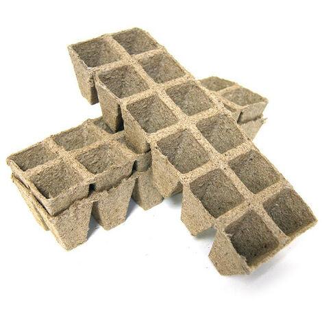 36 pots carrés en tourbe 3.5x3.5x5cm - VG Garden