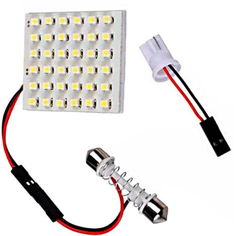 36 Smd 3528 36 Led Panneau Blanc Voiture Lecture Carte Lampe Auto Dome Interieur Ampoule Toit Lumiere Avec Adaptateur T10