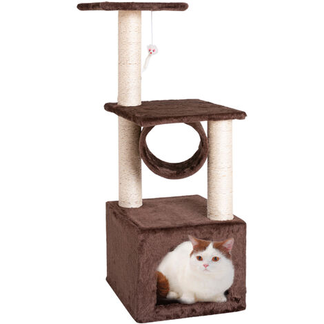"""36"""" Solid Cat Climb Tree Cat Tower Cat Play House Furniture Cute Sisal Rope Plush -Different colours"""