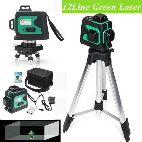 """main image of """"360 3D 12 lignes Niveau laser vertes auto nivelant niveau horizontal Vertical outil magnétique type A uniquement"""""""