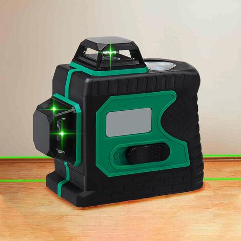 360 3D 12 lignes vertes Laser auto nivelant niveau horizontal Vertical outil magnétique Niveau laser de type A uniquement