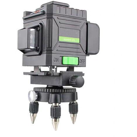 360 ° 3D niveau laser vert auto nivellement automatique mesure verticale horizontale 12 lignes de lumière verte 4D 12 ligne US