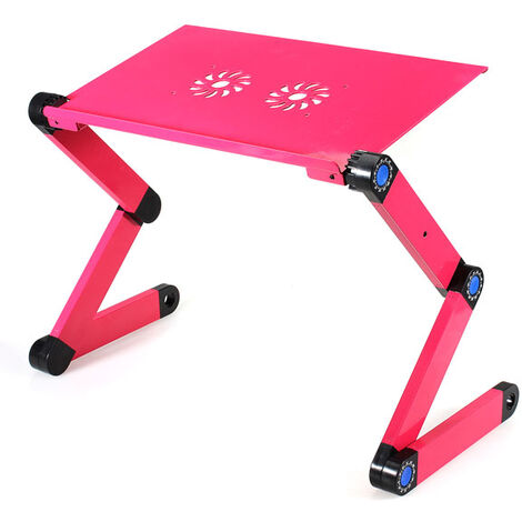 360 Adjustable Laptop Notebook PC Desk Table Sofa Stand Bed Tray + Mouse Pad rosered Type4