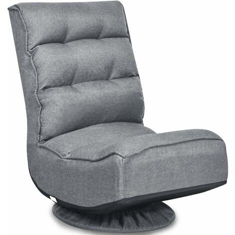 360-Degree Folding Lazy Sofa Chair Ergonomic Swivel Adjustable Floor Game Chair