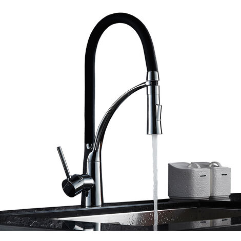 360 Degree Rotating Kitchen Tap Pull Down Sprayer Basin Sink Mixer Tap Spout Hot & Cold Water Faucet