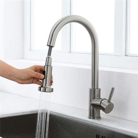 Fabulous 360° drehbar Wasserhahn Küche Armatur ausziehbar Mischbatterie LR49