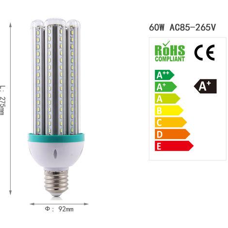 360° LED Energiesparlampen Leuchtmittel Lampe Licht 60W Stabilem Naturweiß