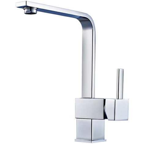 360 Rotating Stainless Steel Single Handle Sprayer Kitchen Mixer Tap Sink Faucet
