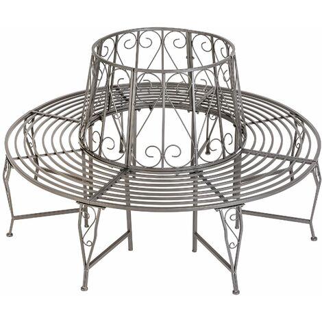 "main image of ""360° garden bench made of steel - bench, outdoor bench, metal garden bench - anthracite"""
