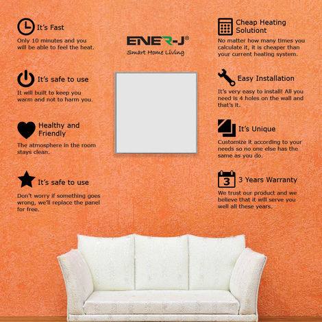 360W Infrared Heating Panel 60x60cms